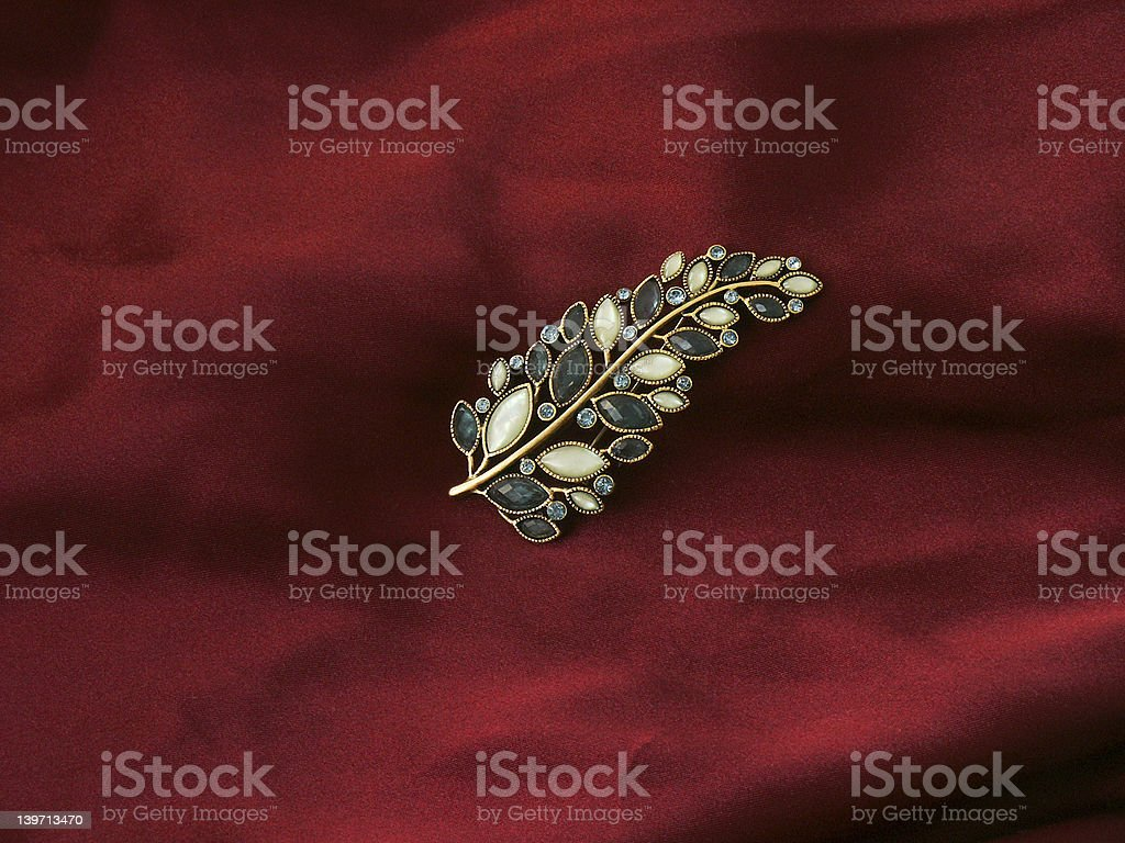 Leaf pin royalty-free stock photo