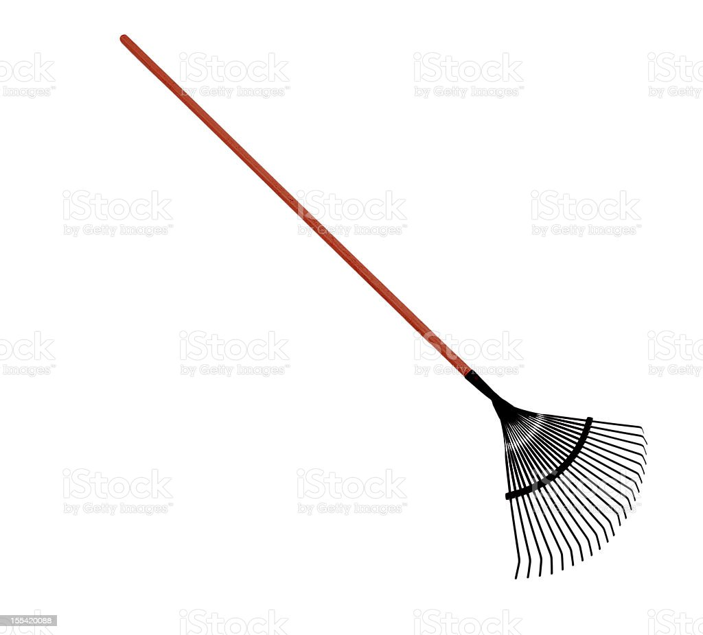 Leaf Rake With Clipping path stock photo