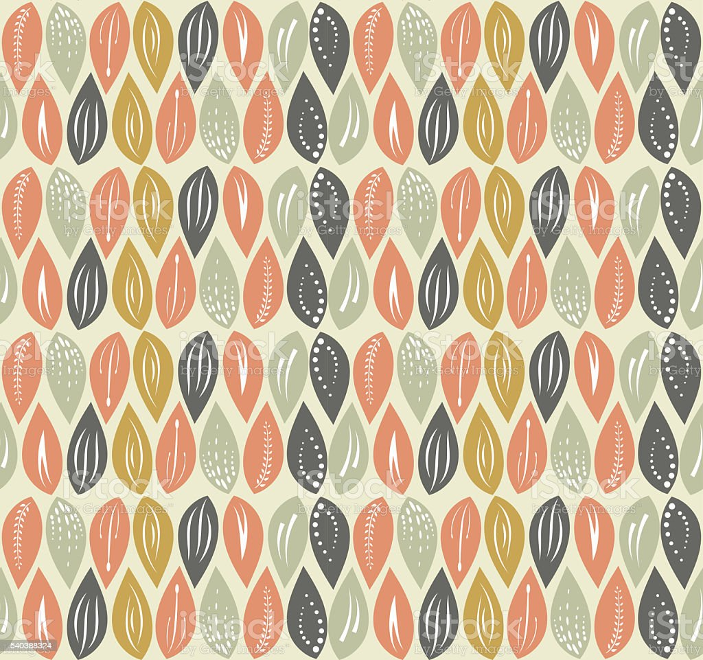 Leaf seamless pattern background, editable color background. stock photo