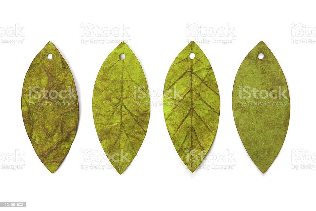Leaf shaped tags royalty-free stock photo