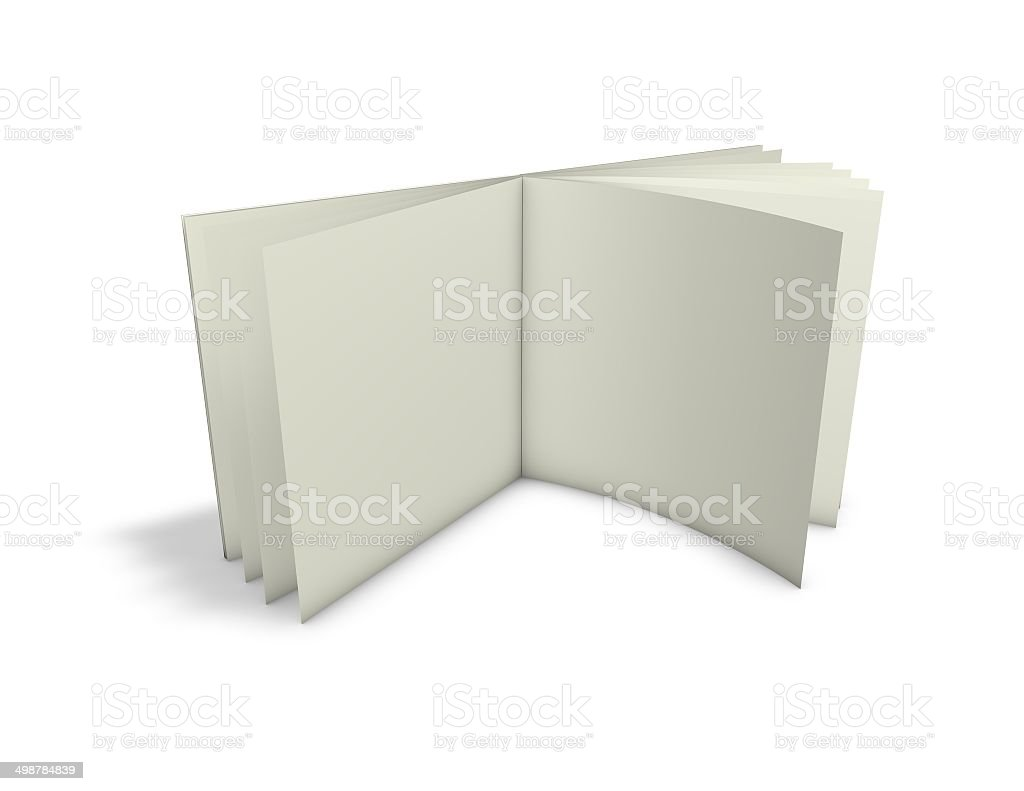 leaflet open standing on floor royalty-free stock photo