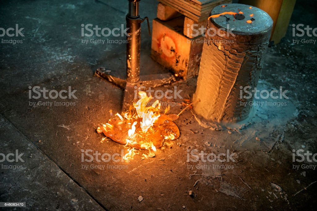 Leak in a mold stock photo