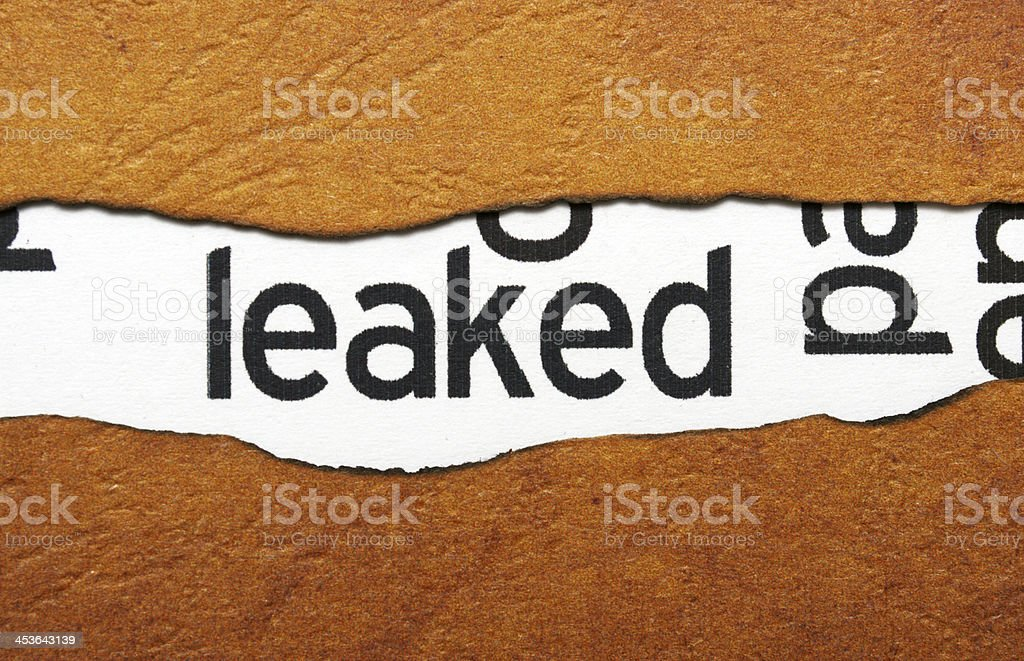 Leaked info stock photo