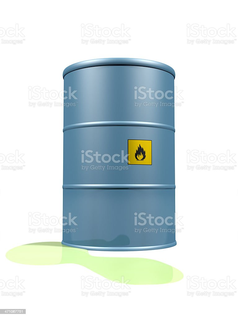 Leaking Flammable Liquid royalty-free stock photo