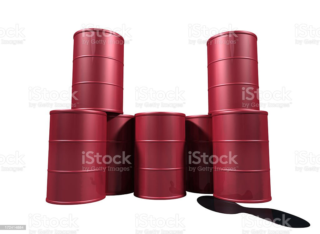 Leaking Oil Drums royalty-free stock photo
