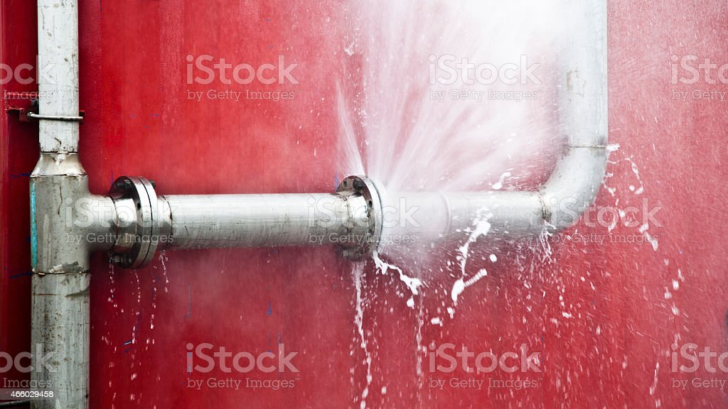 Leaking Pipe stock photo