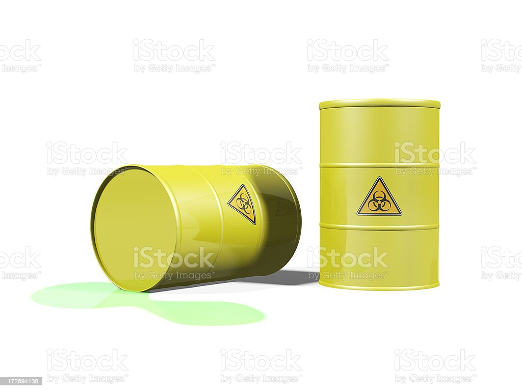 Leaking Toxic Waste royalty-free stock photo