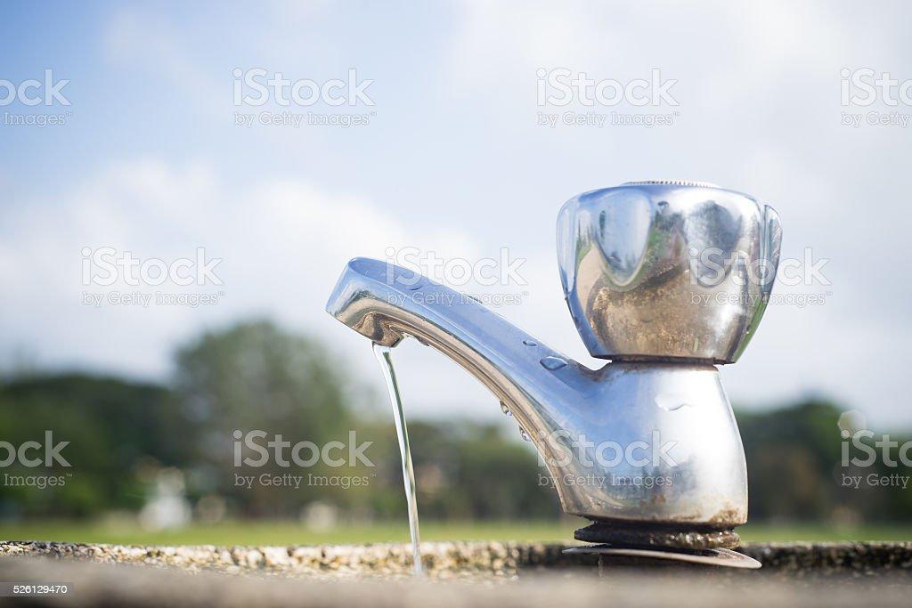 Leaking water. stock photo