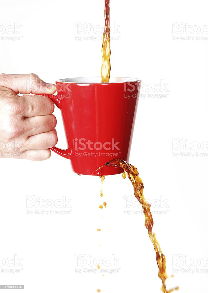 leaky coffee cup royalty-free stock photo