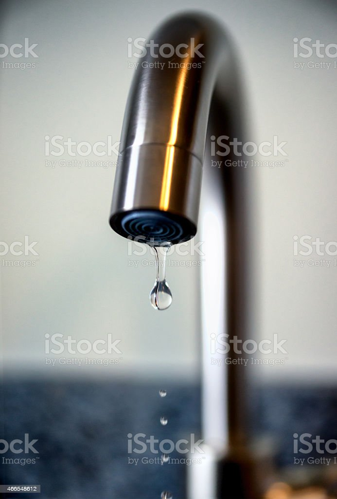 Leaky Kitchen Faucet stock photo