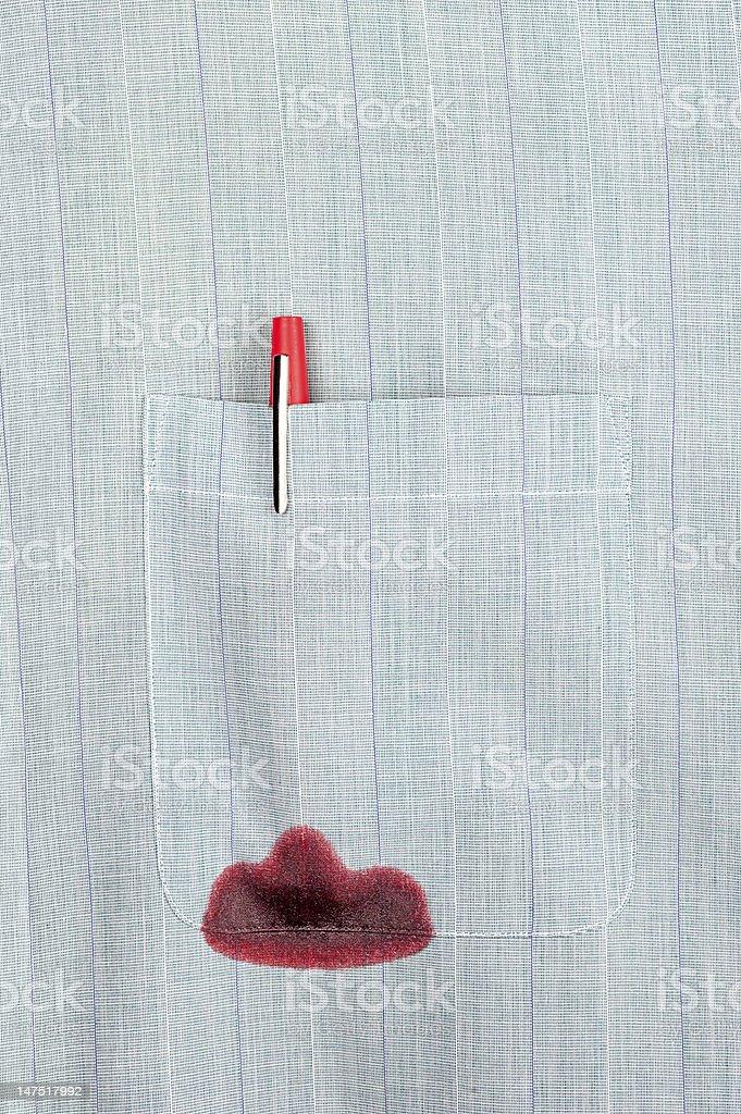 Leaky pen stock photo