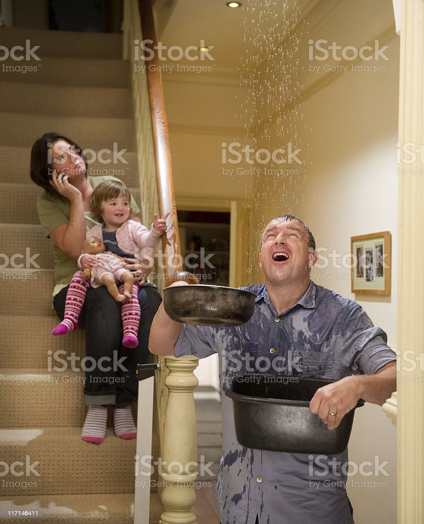 leaky roof royalty-free stock photo