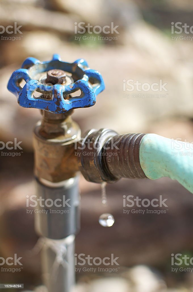 Leaky Water Faucet stock photo