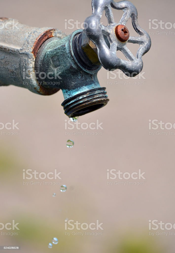 Leaky Water Tap stock photo