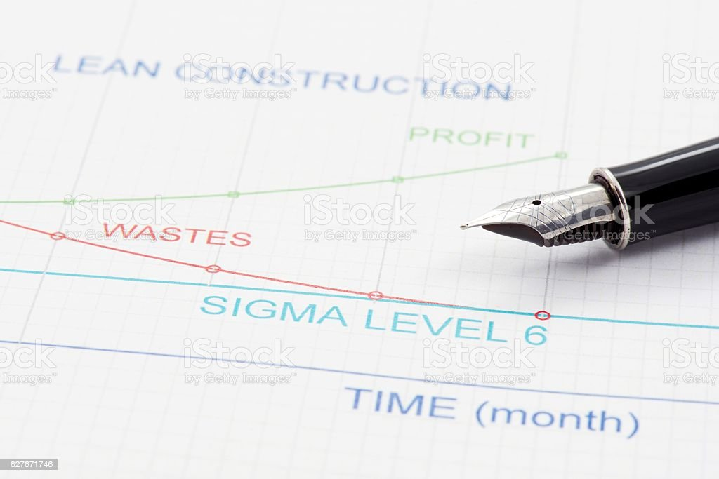 Lean Construction Management stock photo