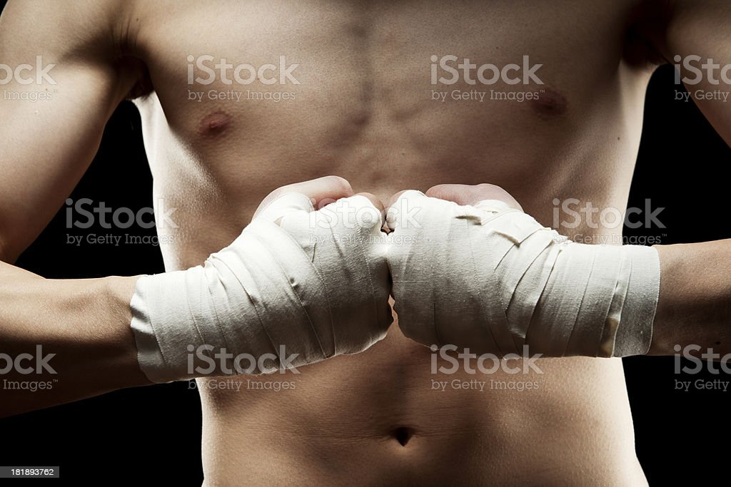 Lean Fighter's Fists royalty-free stock photo