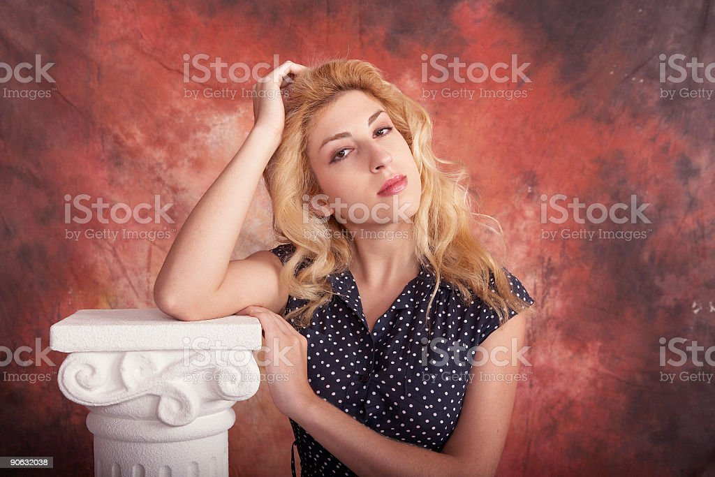 Lean on me royalty-free stock photo