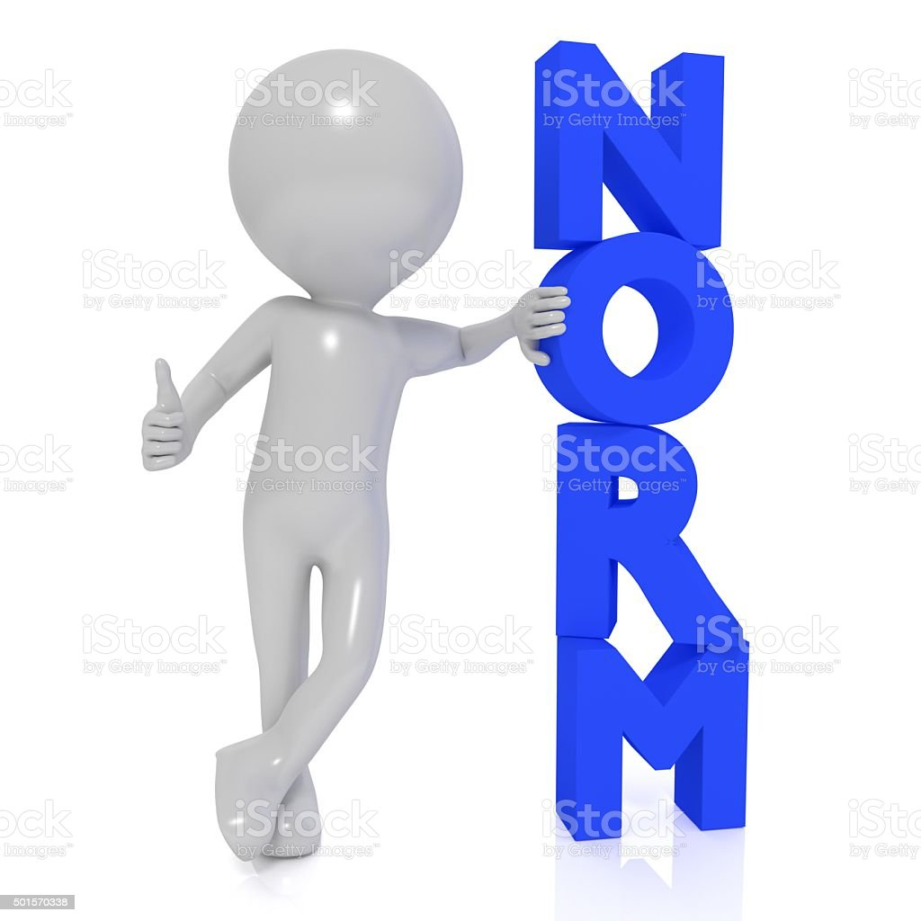 Lean on the norm stock photo