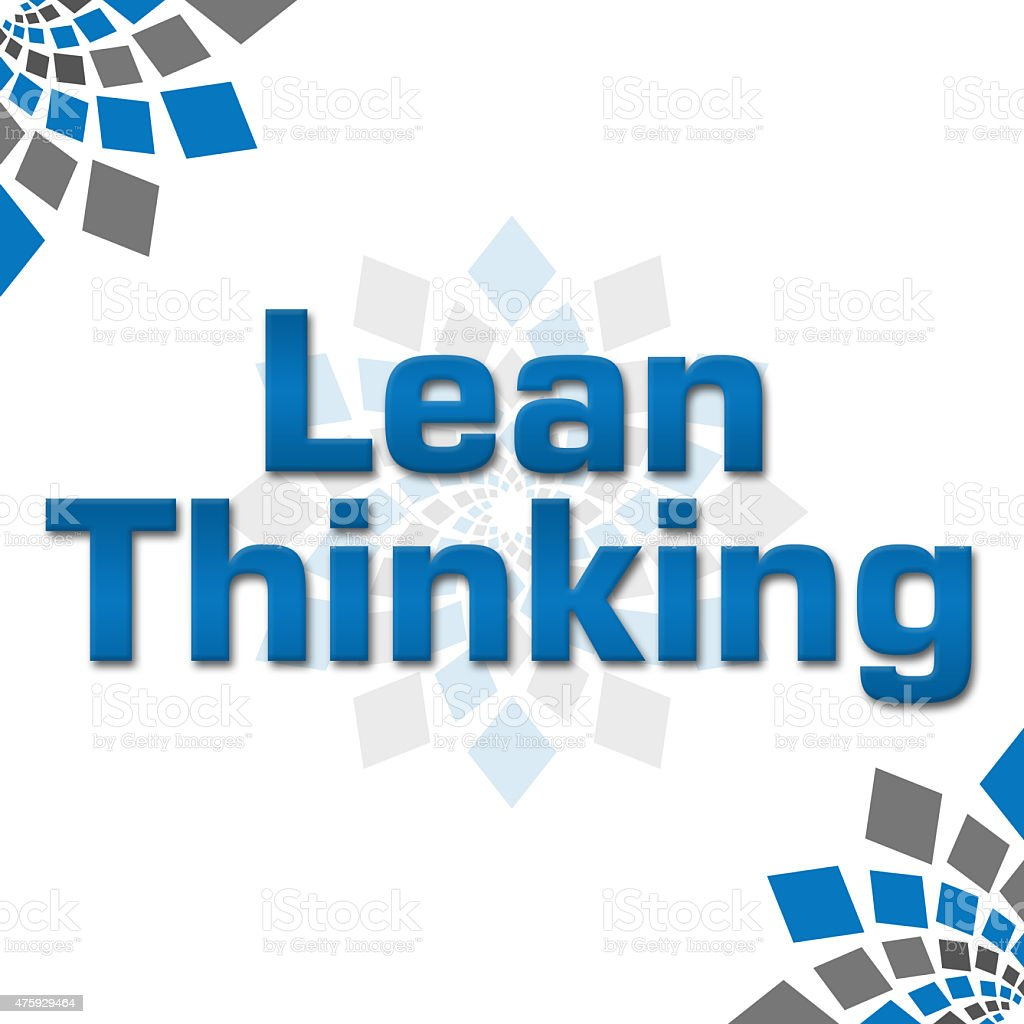 Lean Thinking Blue Grey Squares Elements Square stock photo