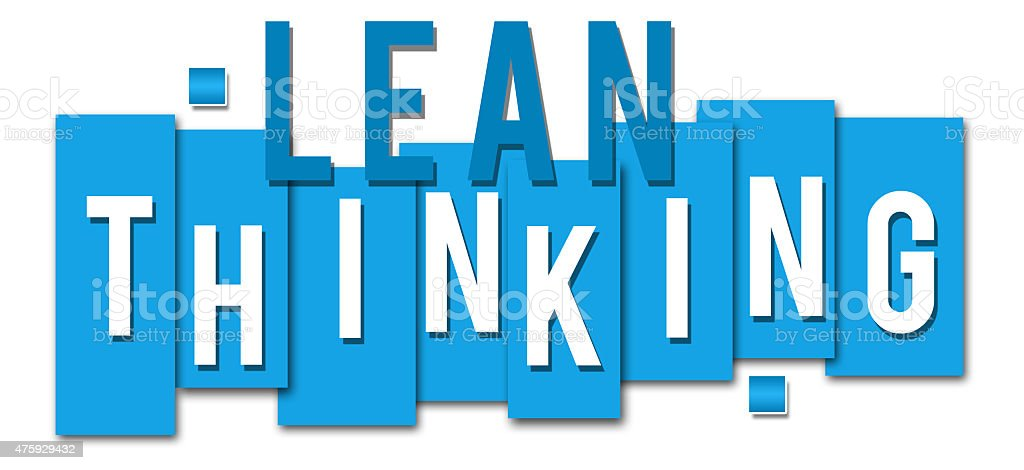 Lean Thinking Blue Stripes stock photo