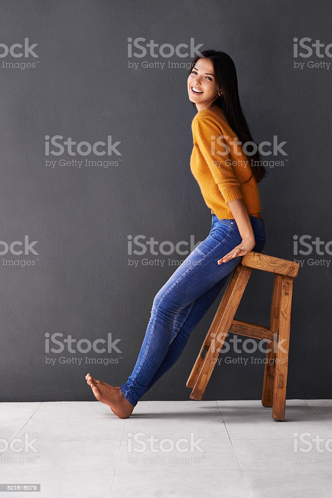 I lean towards the lighter side of life stock photo