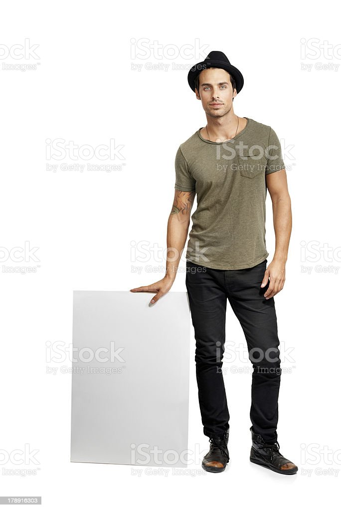 Leaning on copyspace royalty-free stock photo