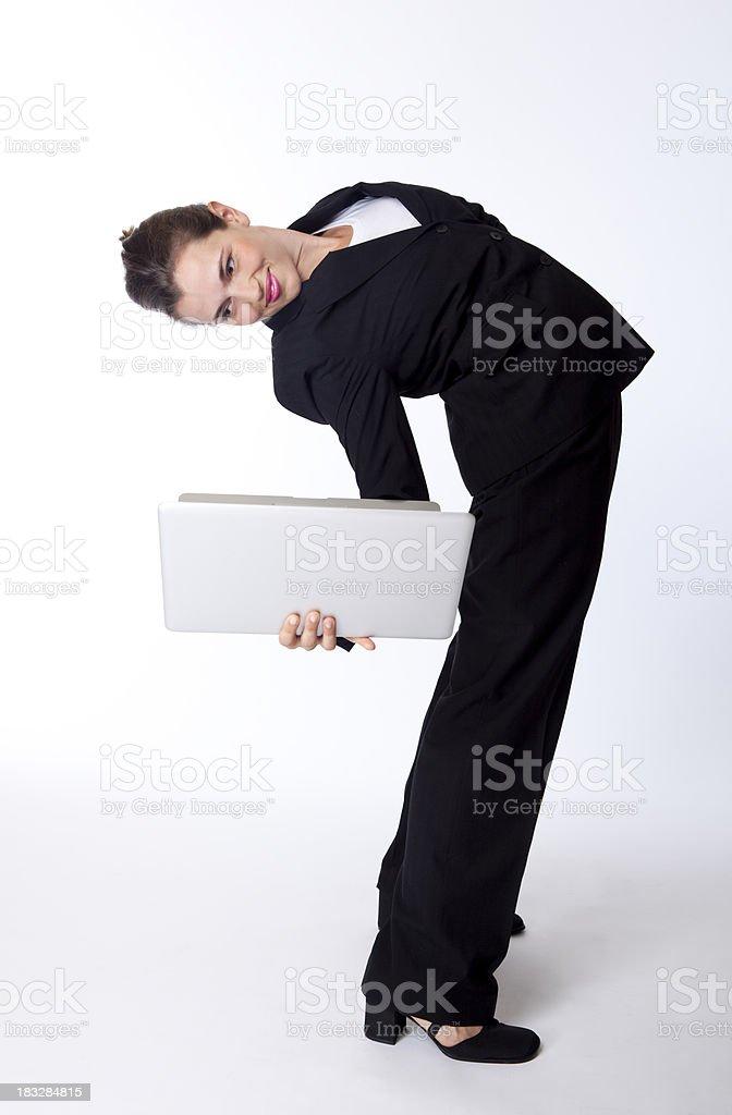 leaning over backwards royalty-free stock photo