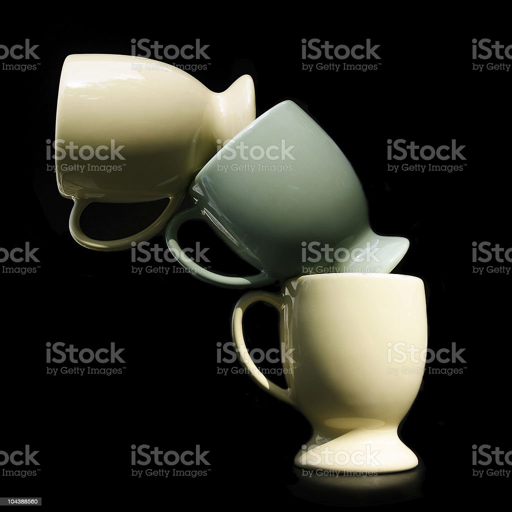 Leaning Tower of Cups royalty-free stock photo