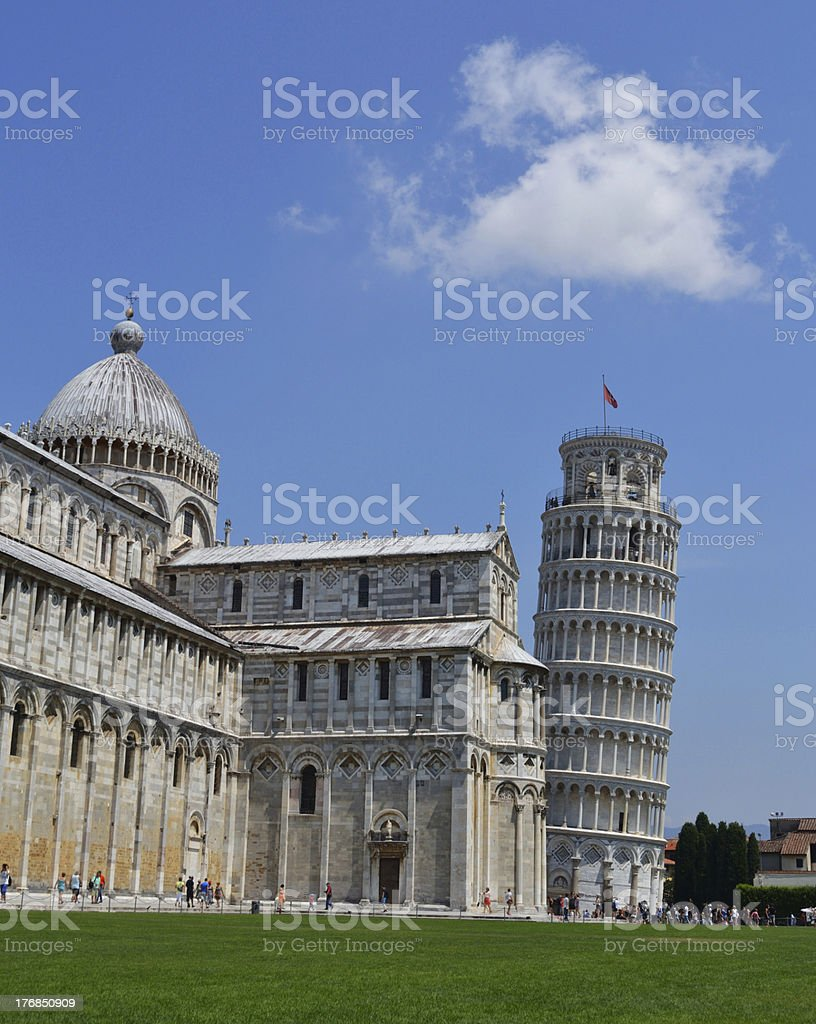 Leaning Tower of Pisa and Cathedral royalty-free stock photo