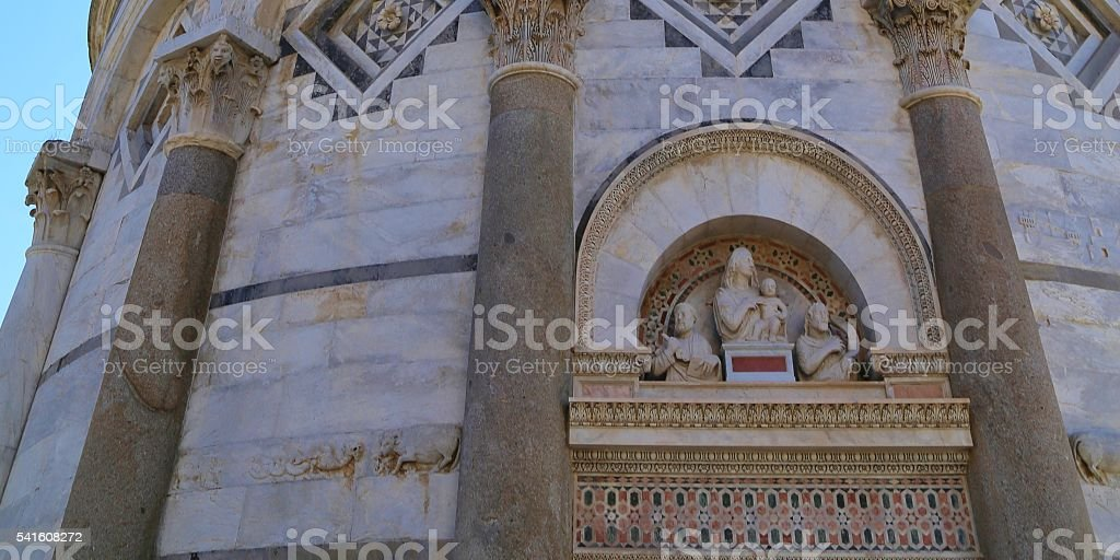 Leaning Tower of Pisa Carvings stock photo