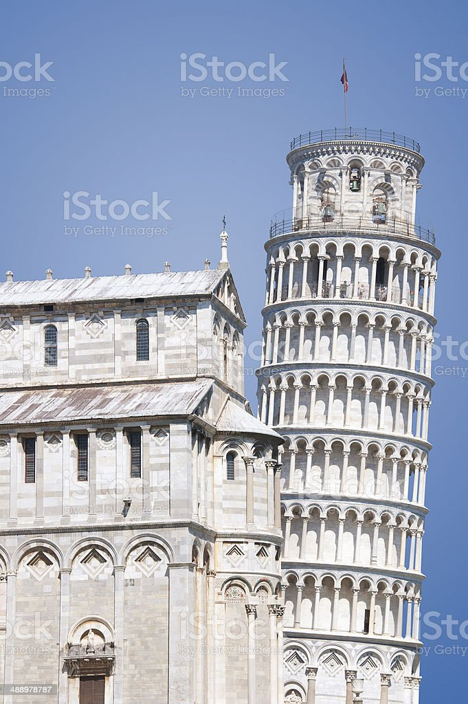Leaning Tower of Pisa Isolated royalty-free stock photo