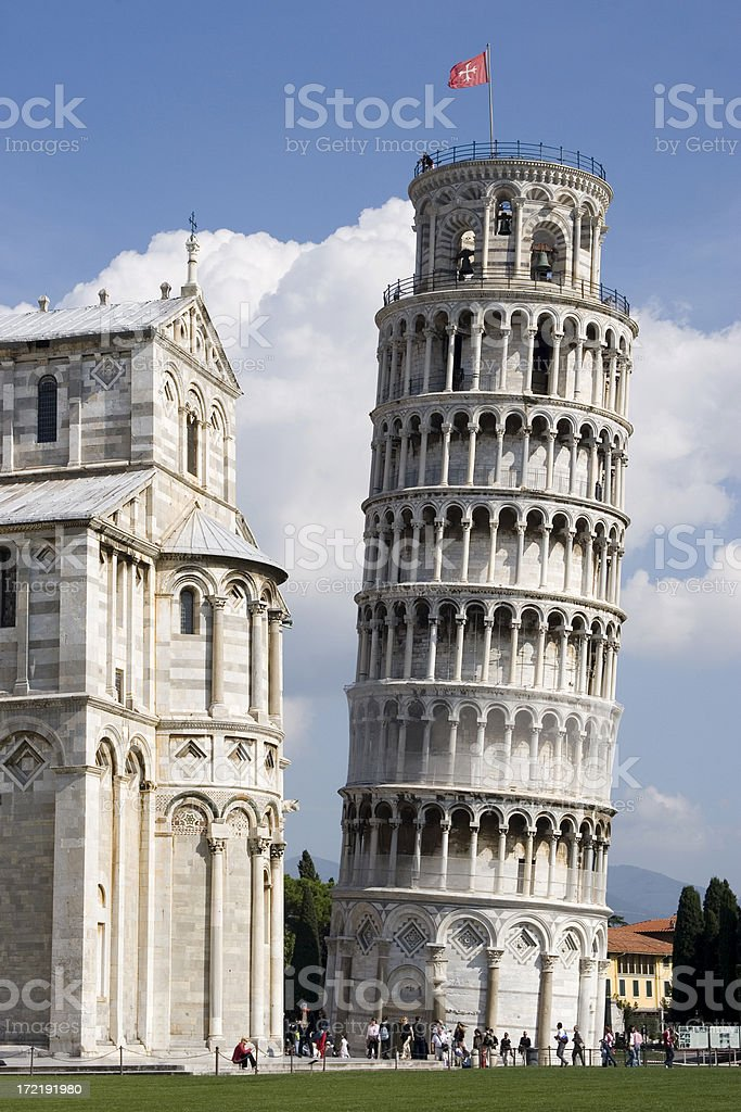 Leaning Tower of Pisa, Italy royalty-free stock photo