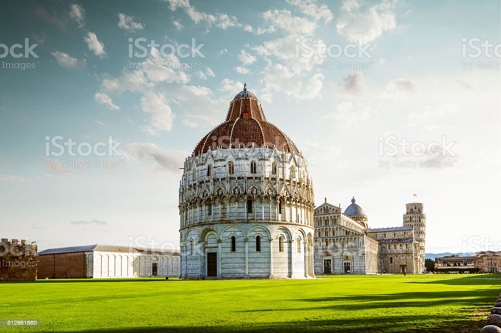 Leaning tower of Pisa , Italy stock photo
