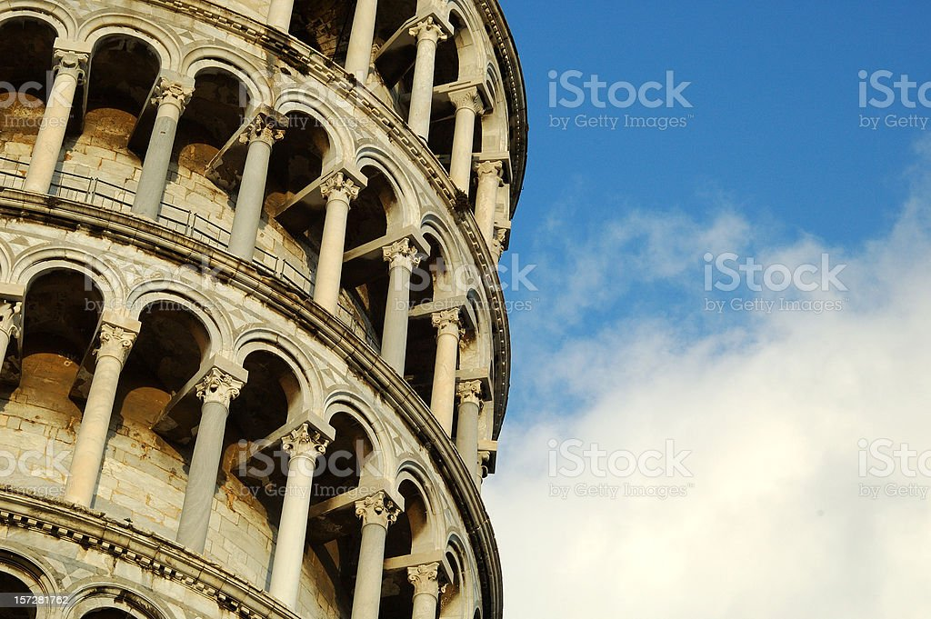 Leaning tower of Pisa royalty-free stock photo