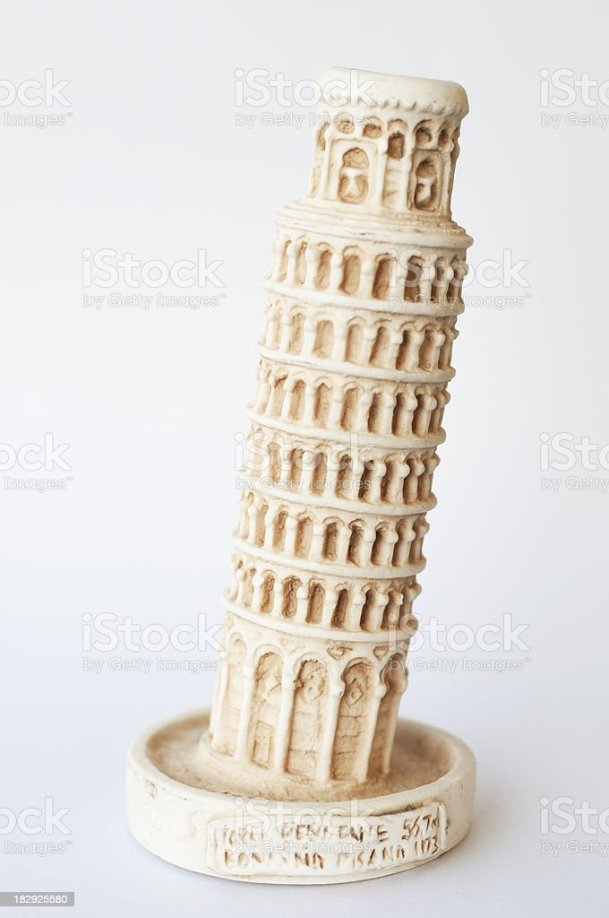 Leaning tower of Pisa (souvenir) stock photo