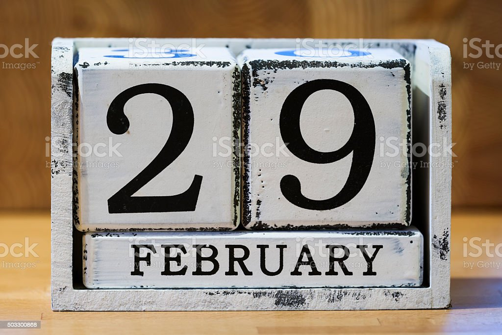 Leap Day stock photo