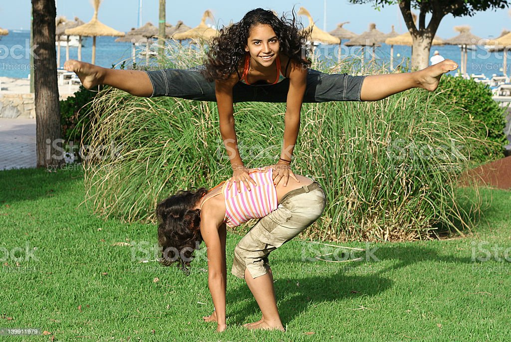 leap frog stock photo
