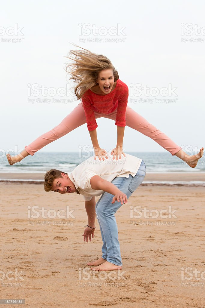 Leap Frog! stock photo