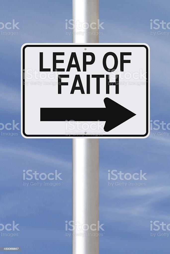 Leap of Faith stock photo