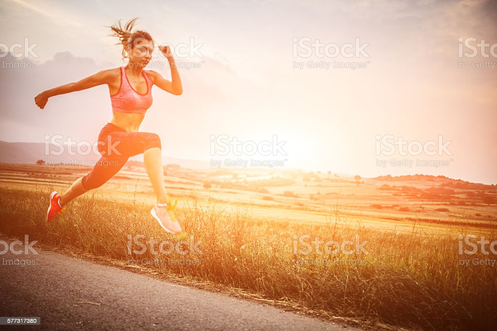 Leap of life stock photo