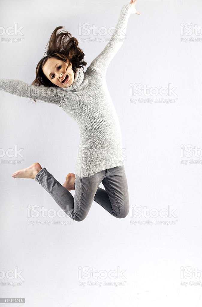 Leap with joy royalty-free stock photo