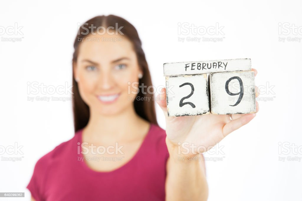 Leap Year Date stock photo