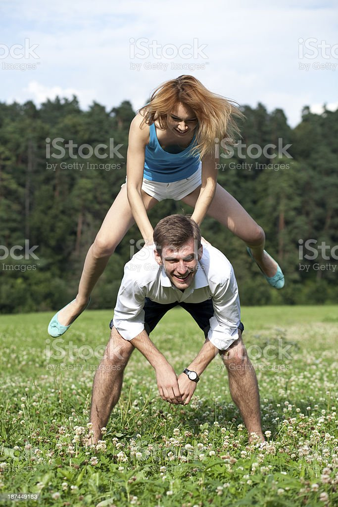 Leapfrog stock photo