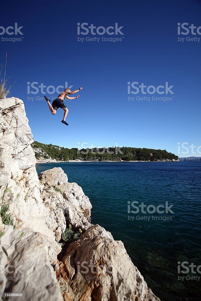 Leaping Into The Unknown royalty-free stock photo