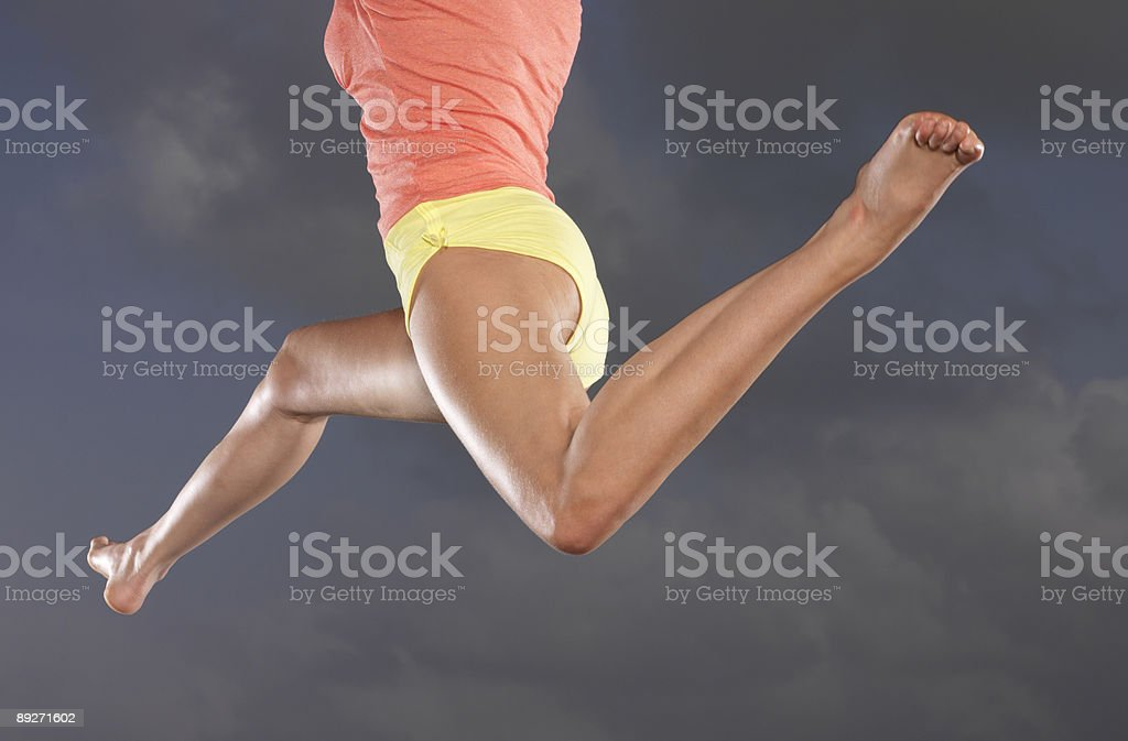 leaping legs royalty-free stock photo