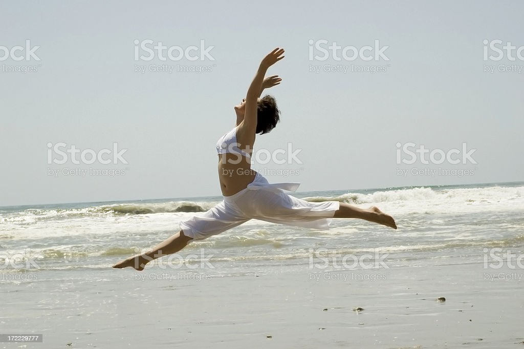 Leaping royalty-free stock photo
