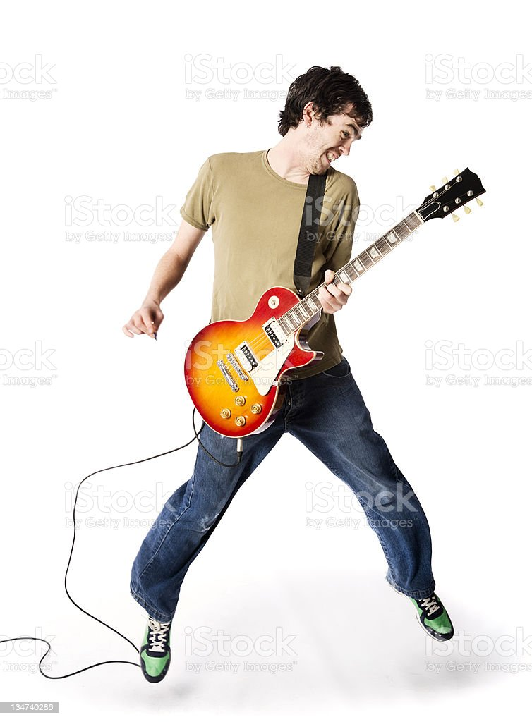 Leaping rocker stock photo