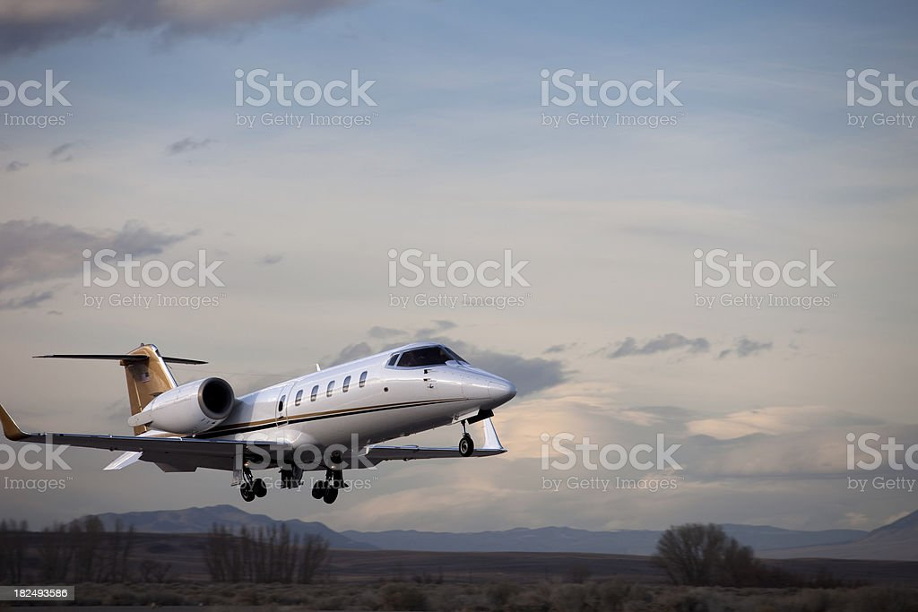 Lear 60 Launching stock photo