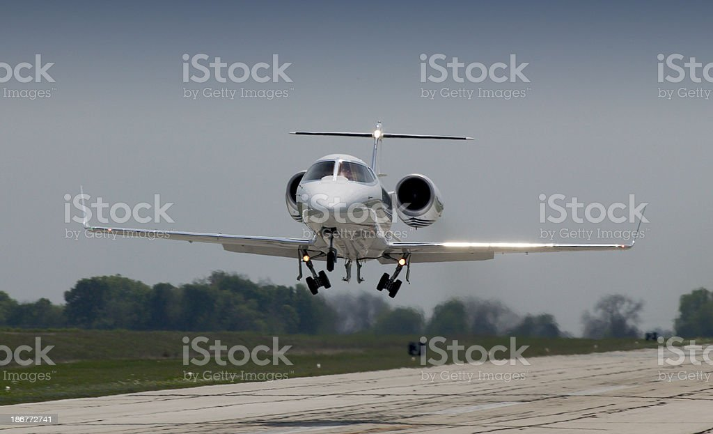 Lear Jet 60 Departure stock photo