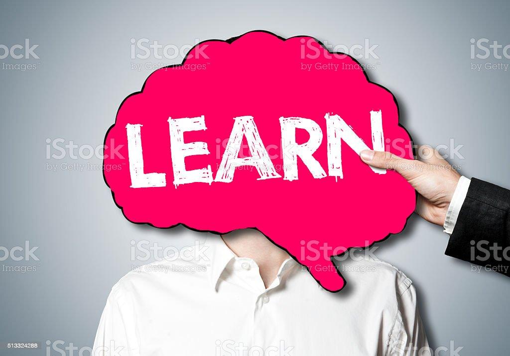 Learn / Brain concept stock photo
